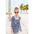 Snapper Rock Navy Pineapple Kaftan