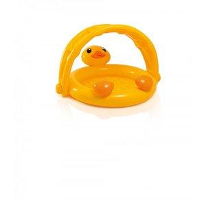 Vrolijk baby zwembadje in de vorm van een eend for Intex zwembad baby