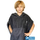 Terry Rich Australia Kinder Poncho Charcoal