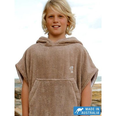 Terry Rich Australia Kinder Surf Poncho Stone
