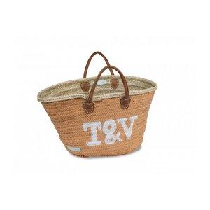 Twenty Violets Straw Beach Bag Mini Maxi Orange