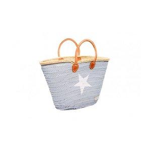 Twenty Violets Strandtas Grey - Star in white (Mini Maxi)