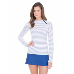 Cabana Life UV Shirt Navy Stripe