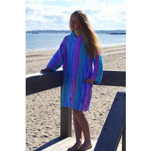 Back Beach Co Kids Beach Robe Coral Fade