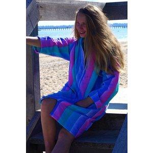 Back Beach Co Coral Fade Swim Beach Robe for women