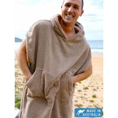 Terry Rich Australia Surf Poncho - Changing Robe Stone
