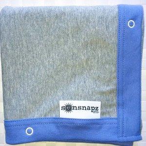 Sunsnapz UV Schaduwdoek Grijs en Hemelsblauw