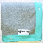 Sunsnapz Sun protection blanket aqua and grey