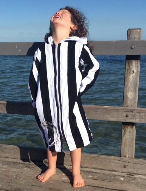 Back Beach Co Kids Robe Clic Stripe Destination