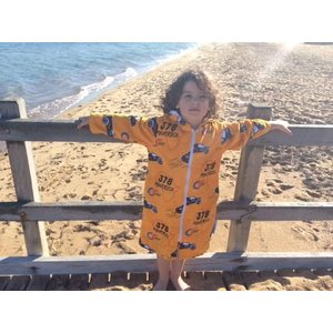 Back Beach Co Kids Beach Robe Maverick Cars
