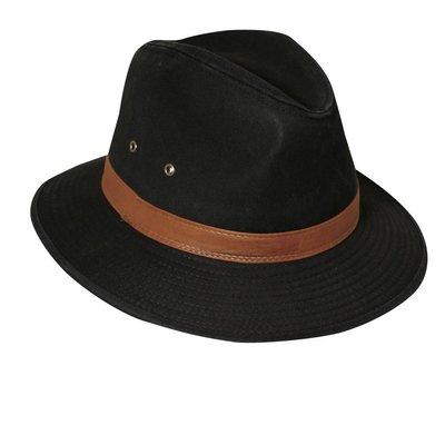 Dorfman Pacific UV Hat Fedora Black