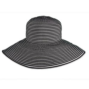 Dorfman Pacific UV Hat Black and White