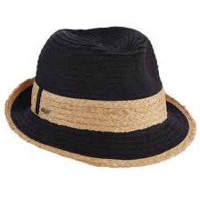 Dorfman Pacific Hat Fedora Black