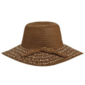 Dorfman Pacific Hat Leopard Brown