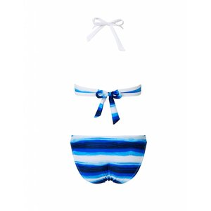 Snapper Rock Halter Bikini Ombre Stripe