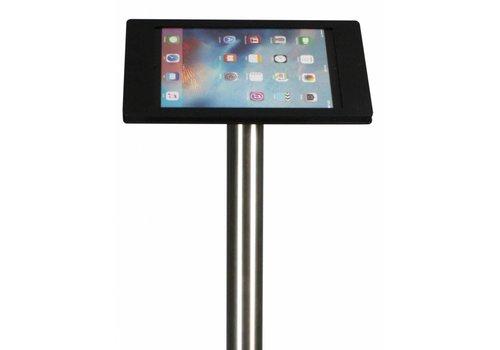 Bravour Vloerstandaard zwart/RVS Apple Pro 12.9, Acrylaat houder