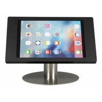"""Desk stand Fino black with stainless steel base iPad Pro 12.9"""" . Portrait - Landscape rotation(Optional) and rotation 360°"""