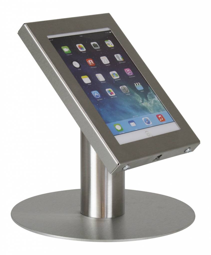 Tablet Desk Stand Securo 7 8 Inch Stainless Steel Lockable