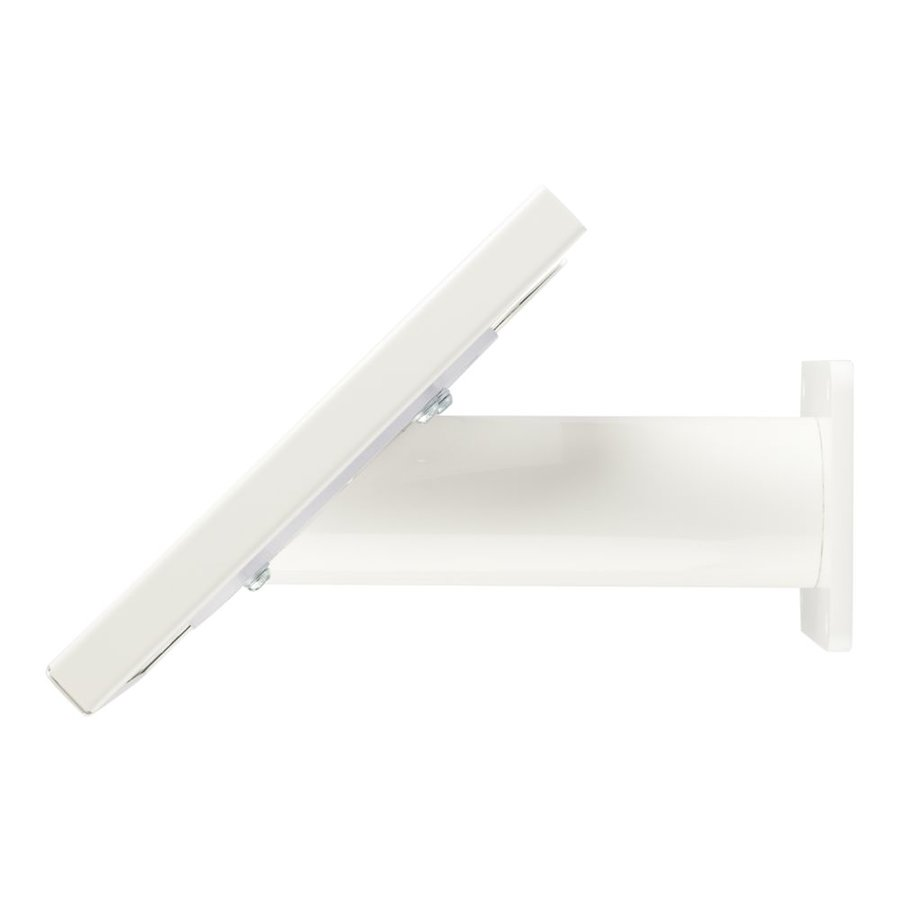 Tablet wall and table stand Securo 7 - 8 inch white, coated and solid steel, lockable, cable integration