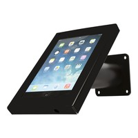 Tablet wall and desk stand Securo 7-8 inch black, coated and solid steel, lockable, cable integration