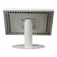 Tablet desk stand Securo 12-13 inch white, rotatable and lockable, cable integration possible, great stability