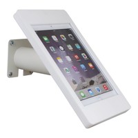 iPad mini wall or desk mount Fino white, with luxury acrylic tablet casing dedicated to the iPad mini.