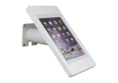 Bravour Houder wit voor iPad Mini; Fino, houder voor wand-, tafel montage van gecoat staal met acrylaat behuizing inclusief slot