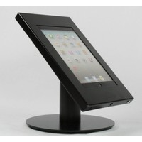 Tablet desk stand Securo 7-8 inch black, coated and rugged steel, lock option, cable integration