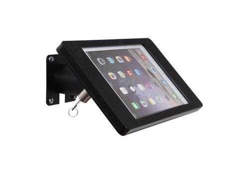 Bravour Houder zwart voor iPad Mini; Fino, houder voor wand-, tafel montage van gecoat staal met acrylaat behuizing inclusief slot