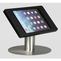 iPad mini desk stand Fino black with stainless steel base, portrait-landscape or tilting module for a better view angle (optional)