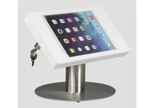 Bravour Soporte de escritorio para iPad Mini, blanco/acero, Fino