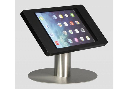 "Bravour iPad pro 9.7"" & iPad Air 1/2 desk stand Fino black with stainless steel base"