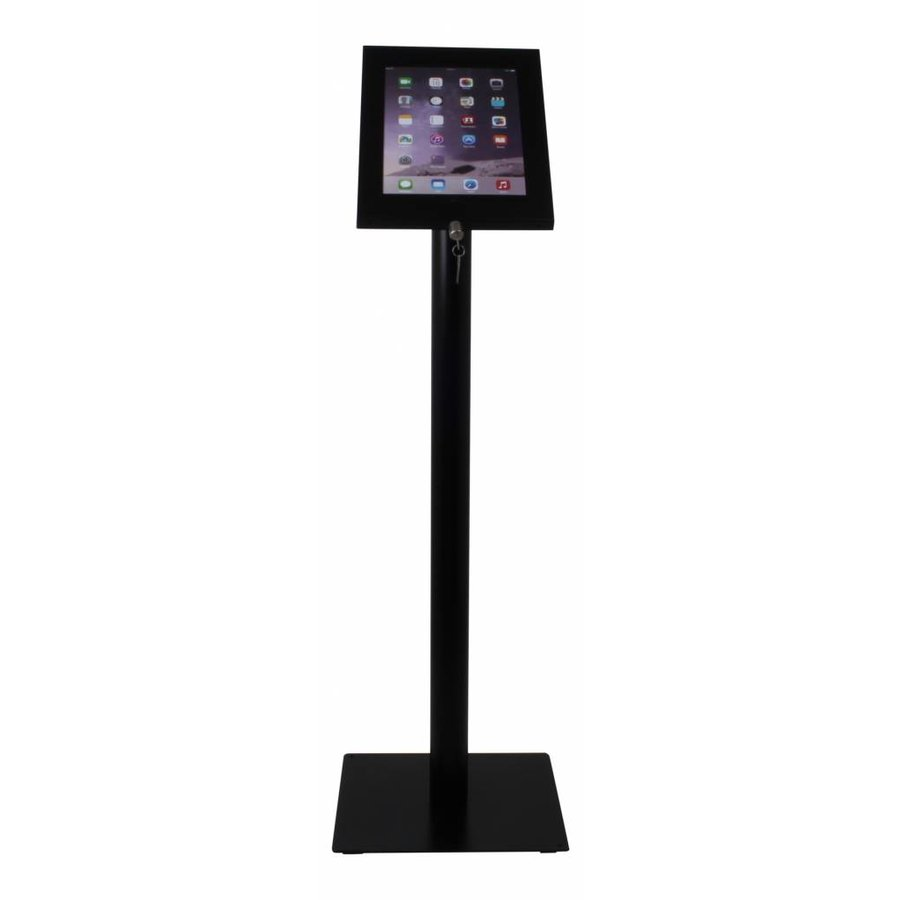 Tablet floor stand Securo 12-13 inch black Rotatable and lockable (optional)