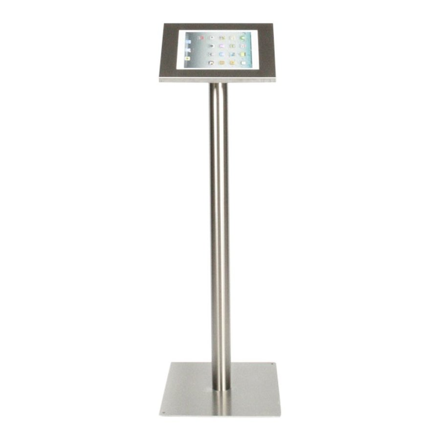 Tablet floor stand Securo 12-13 inch stainless steel, rotatable and lockable (optional)