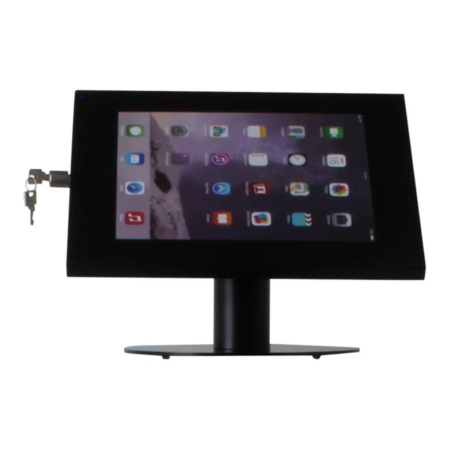 Tablet desk stand Securo 12-13 inch black, rotatable and lockable, cable integration possible, great stability