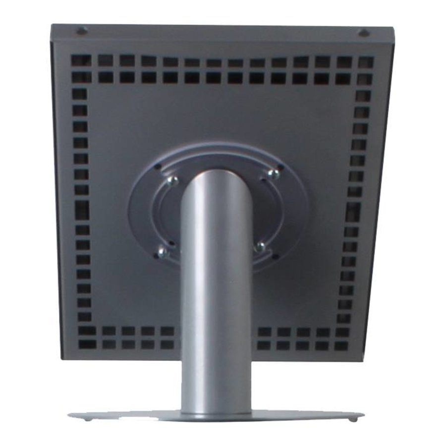 Tablet desk stand Securo 12-13 inch grey, rotatable and lockable, cable integration possible, great stability
