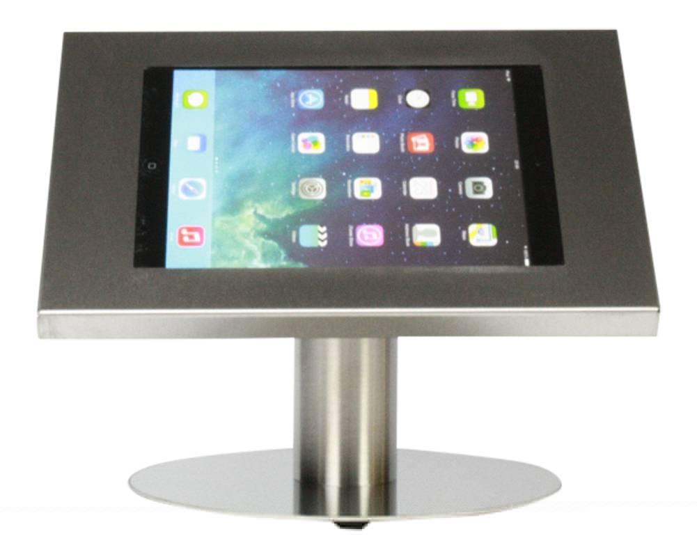 Tablet Houder Tafel : Tablethouder voor tablets inch industrieel ongecoat staal