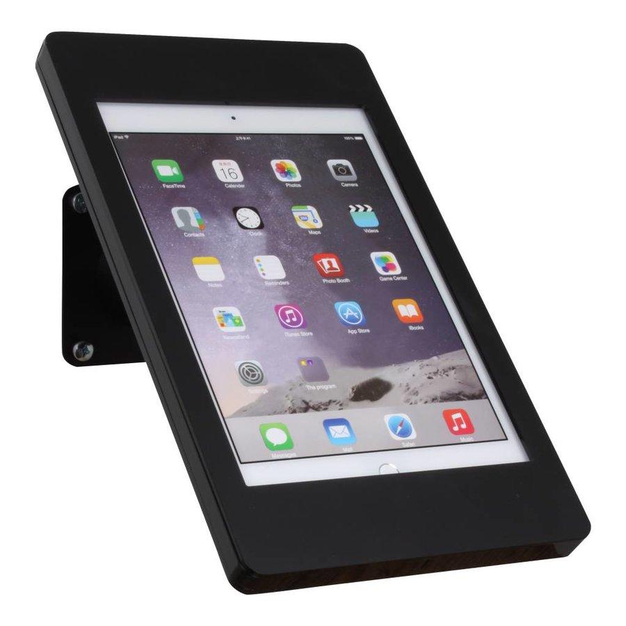 "iPad pro 9.7"" & iPad Air 1/2 wall or desk mount Fino black, 360° rotation unit, a tilting module (optional)"