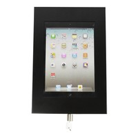 Tablet wall holder Securo 9-11 inch black, coated and durable steel, lockable