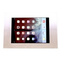 Tablet wall mount flat Securo 9-11 inch stainless steel, brushed and sturdy steel, lock option