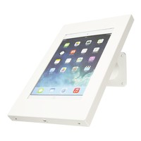 Tablet wall and table mount Securo 9 - 11 inch white, coated and sturdy steel, lockable, cable integration