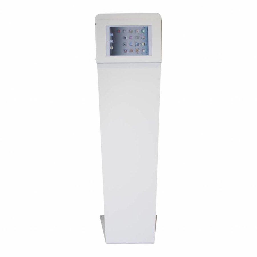 """Universal 12-13"""" tablet floor stand Kiosk, white"""