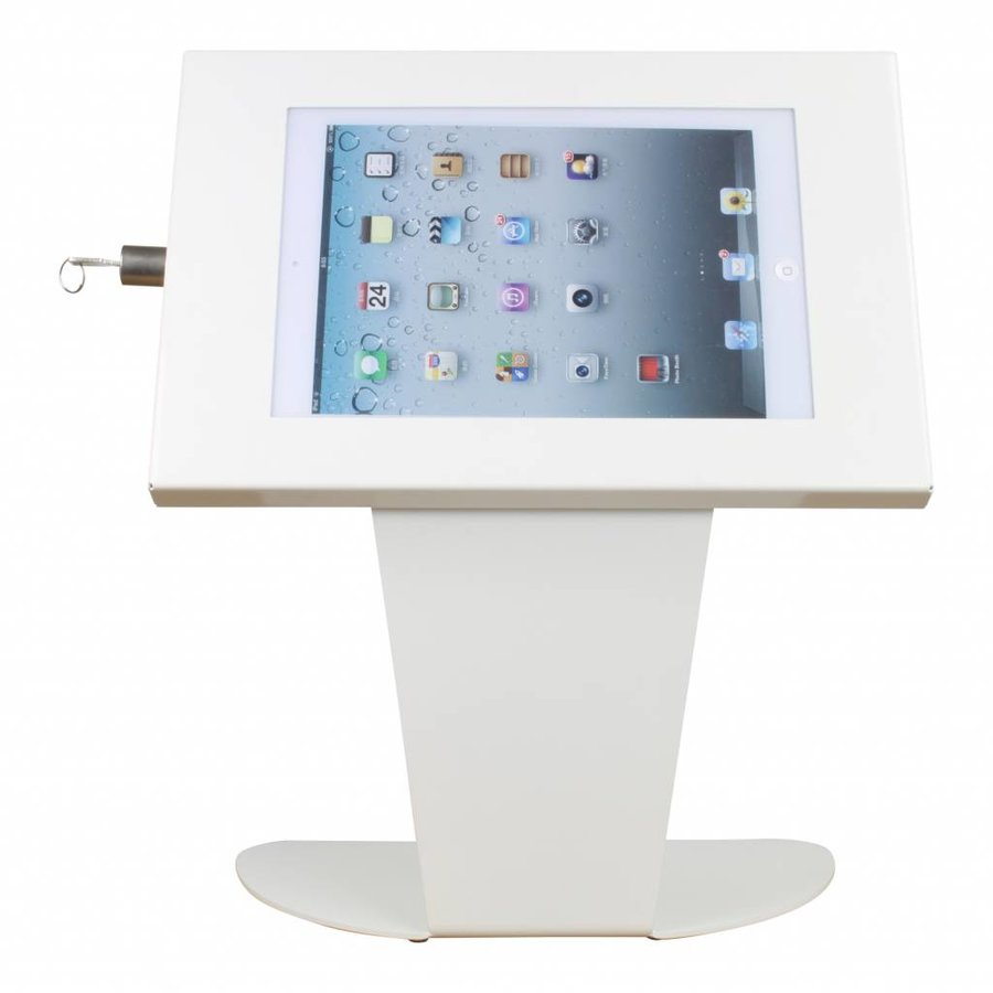 Floor stand for tablets 9-11 inch white Securo-Kiosk