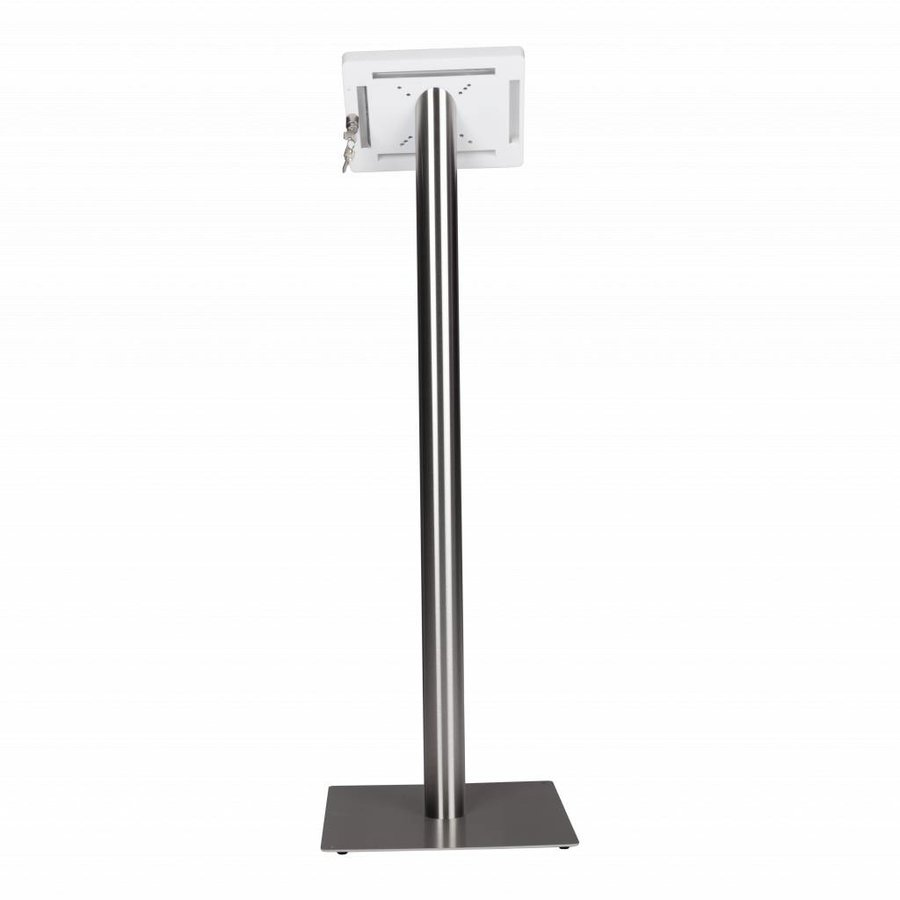 Tablet floor stand Meglio white cassette 7-8 inch with stainless steel base
