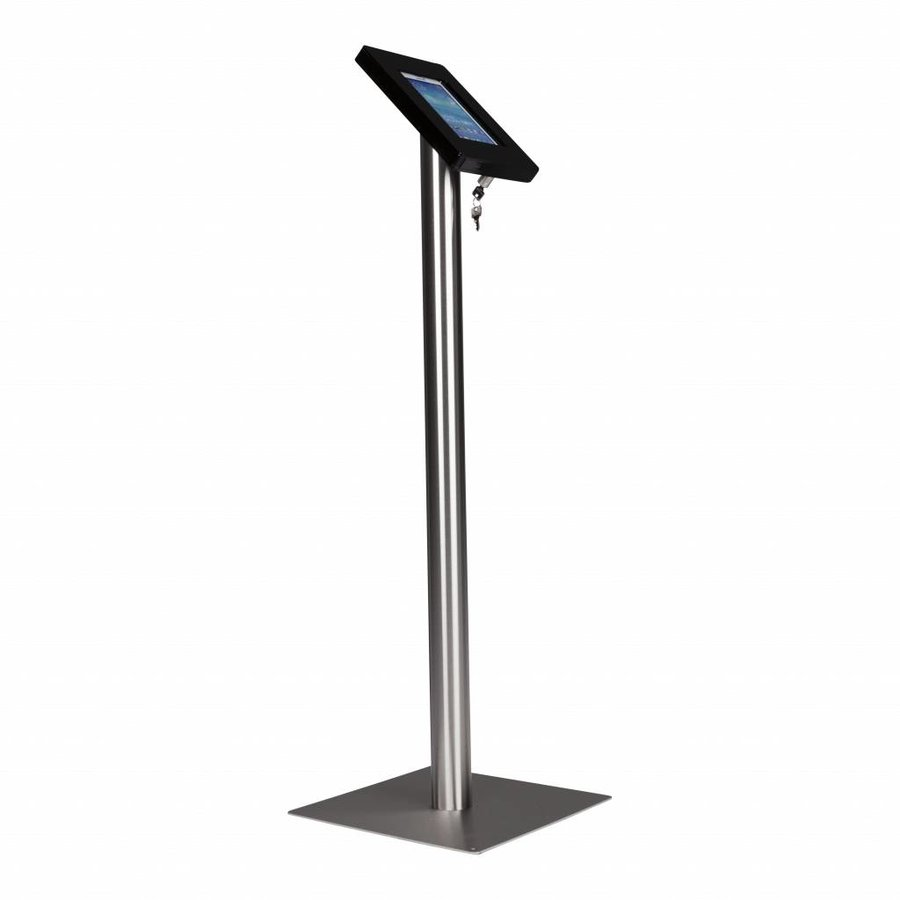 Tablet floor stand Meglio black cassette 7-8 inch with stainless steel base