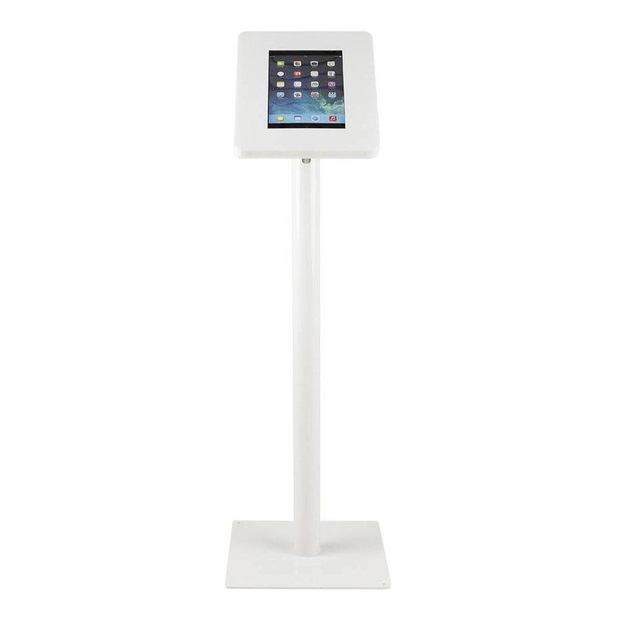 Tablet floor stand Meglio white cassette 9-11 inch with white base