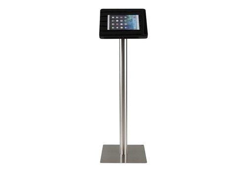 Bravour Standaard zwart voor 9 tot 11 inch tablets, acrylaat cassette op grijs gecoate stabiele voet