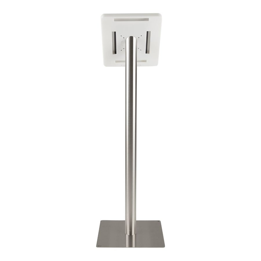 Tablet floor stand Meglio white cassette 9-11 inch with stainless steel base