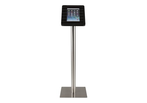 Bravour Tablet floor stand Meglio black cassette 9-11 inch with stainless steel base
