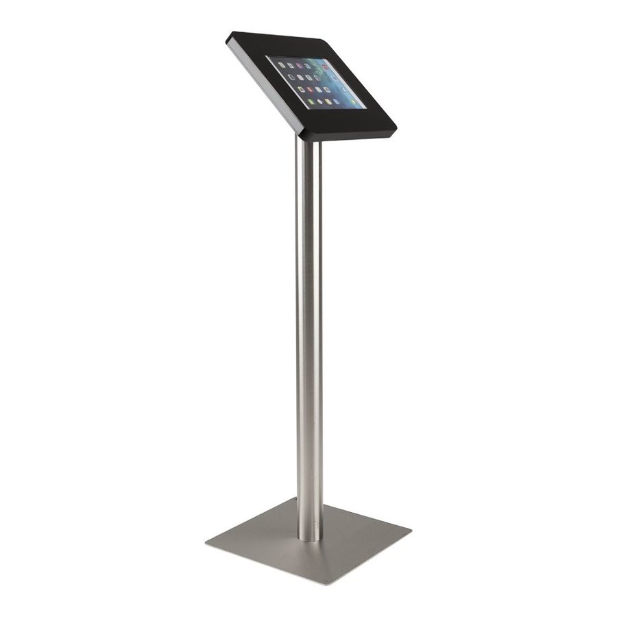 Tablet floor stand Meglio black cassette 9-11 inch with stainless steel base